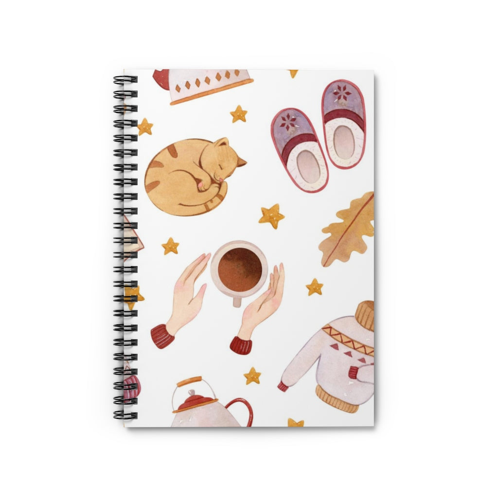 Autumn Cat Notebook
