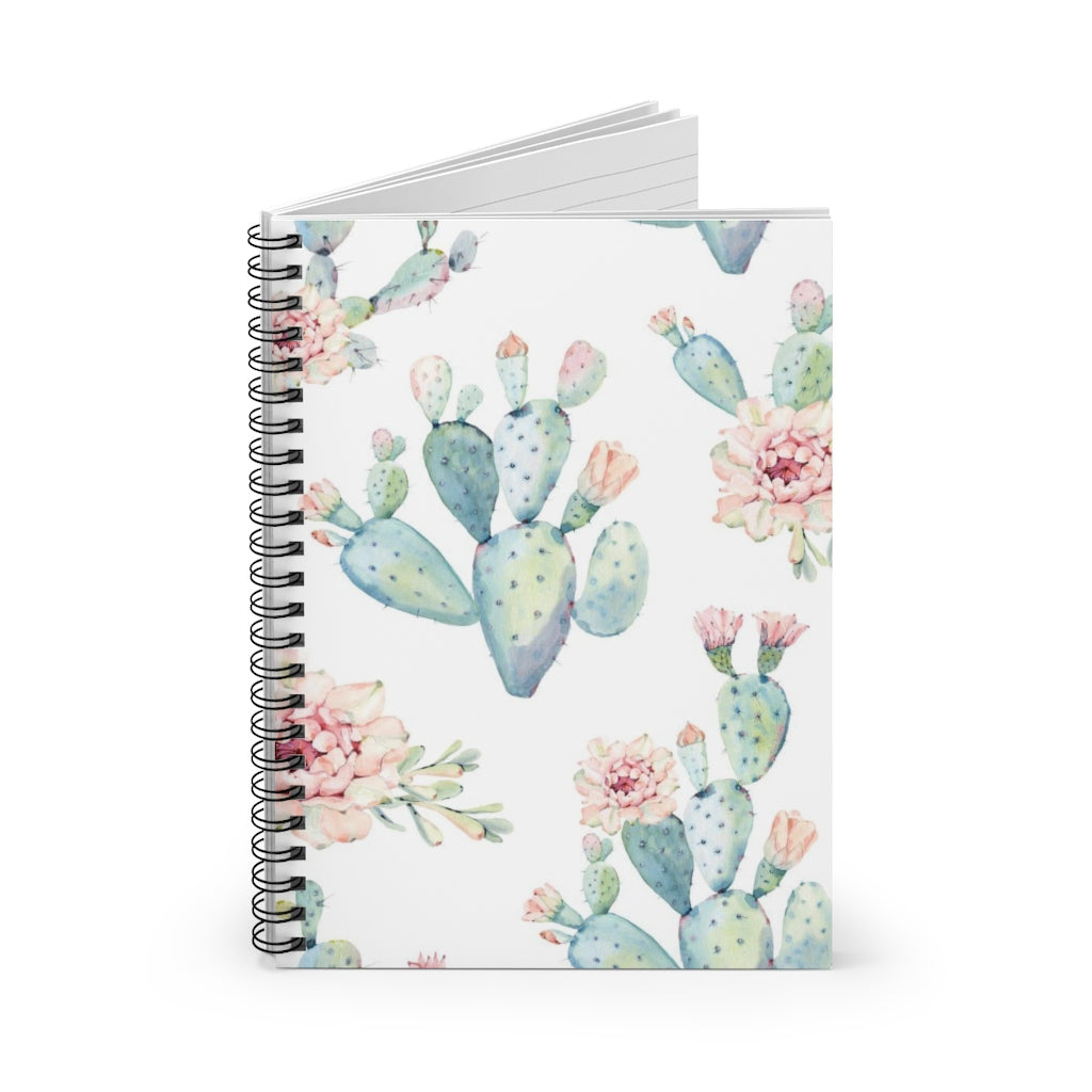Watercolor Cactus Spiral Notebook