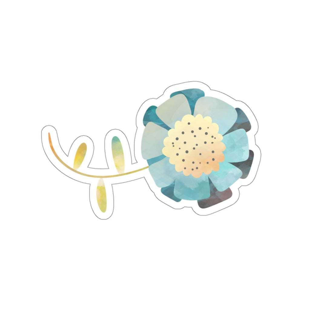 Blue Flower Stickers