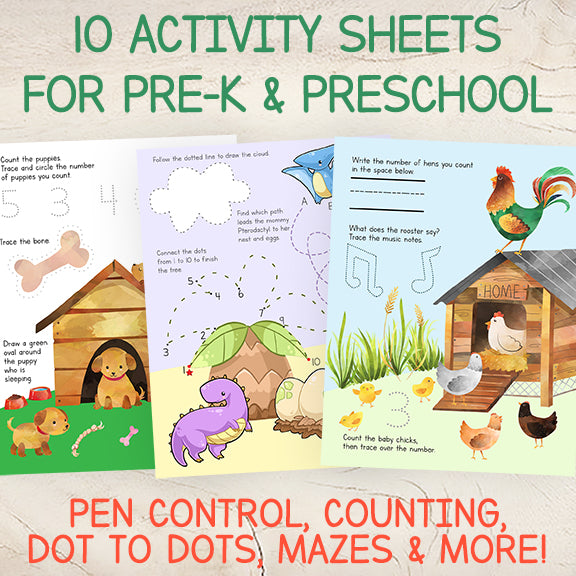 Pre-K activity workbook