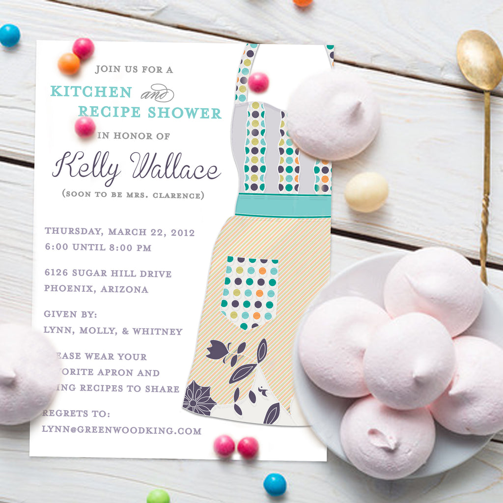 Apron Kitchen Shower Invitation
