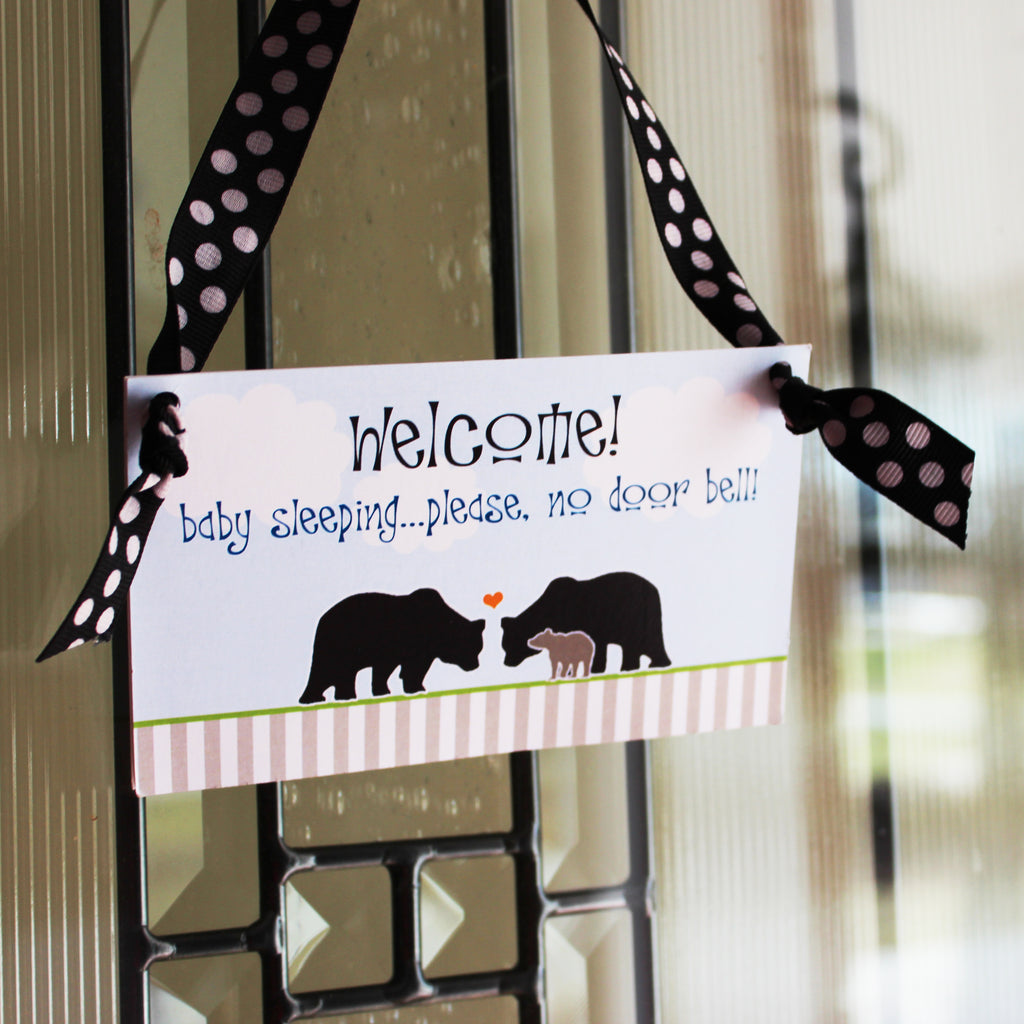 FREE Printable Baby Sleeping Sign