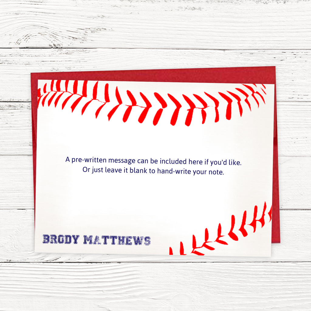 Baseball Thank You Cards