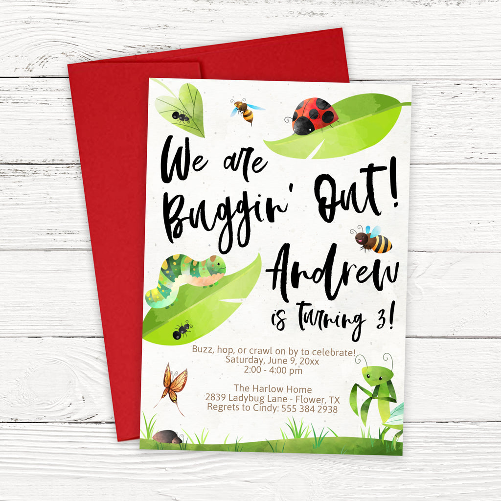 Bug Birthday Invitation