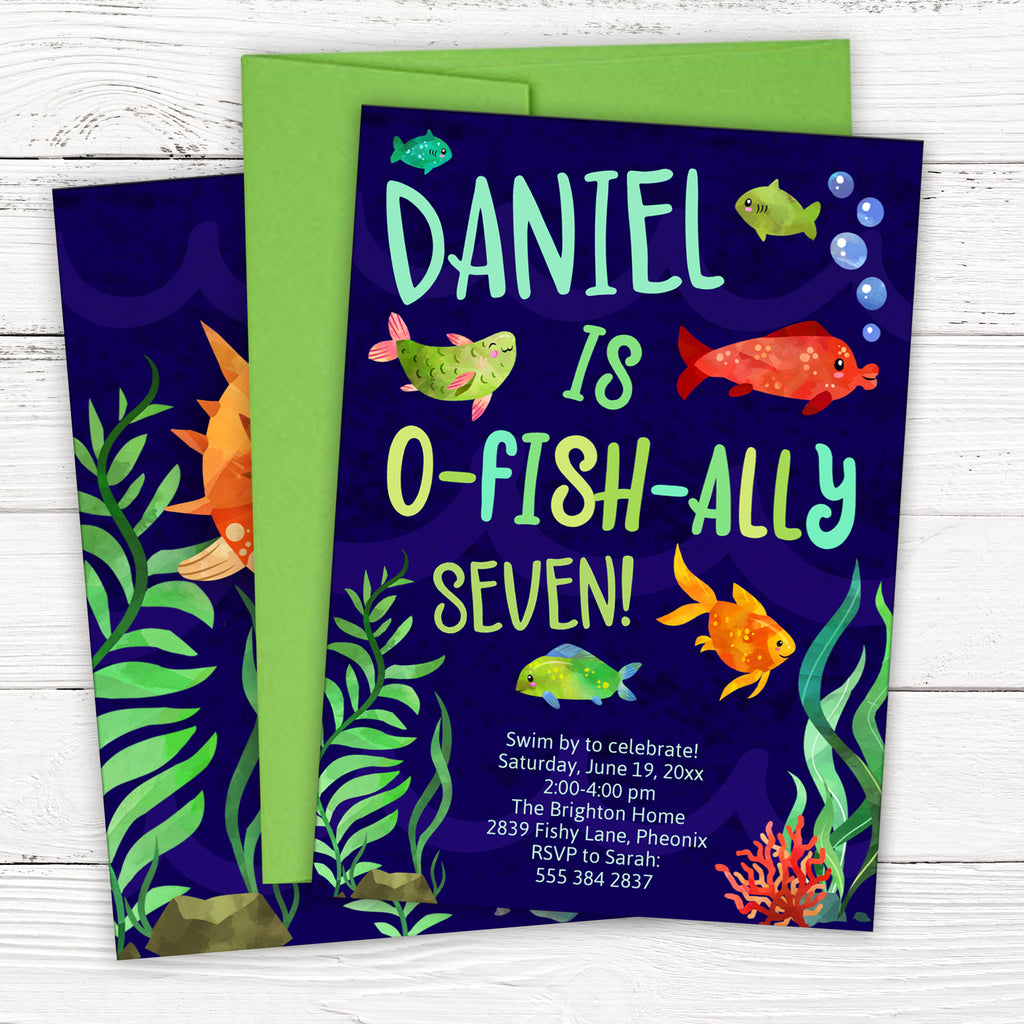 Fish Birthday Invitation