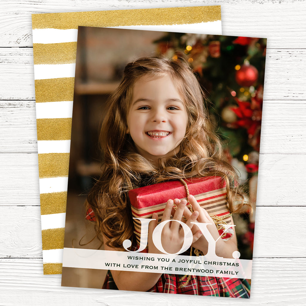 Joy Photo Christmas Card
