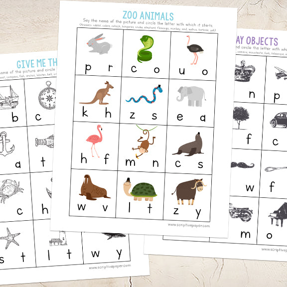 10 Beginning Sounds Worksheets for Kindergarten and Pre-K