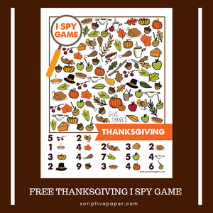 FREE Printable Thanksgiving Activity Sheet -  I Spy Game