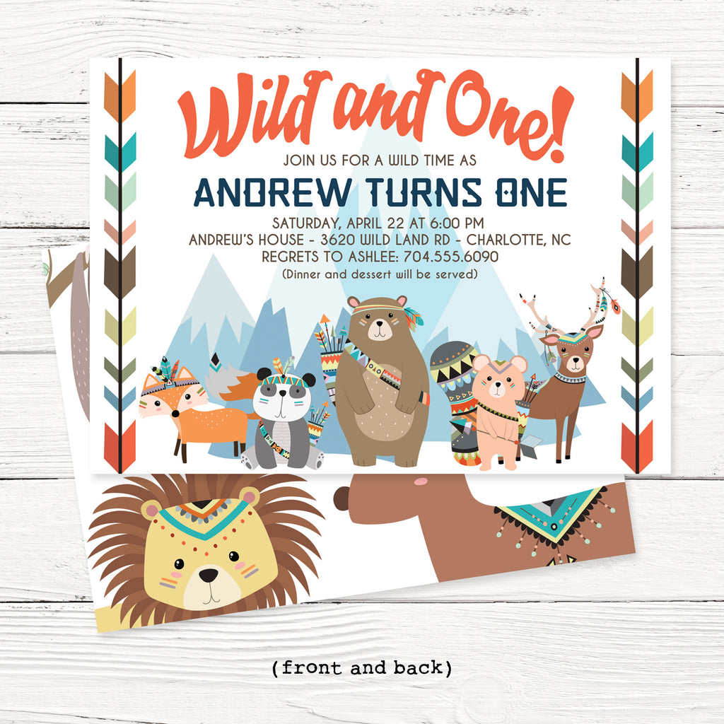 Wild and One Birthday Invitation