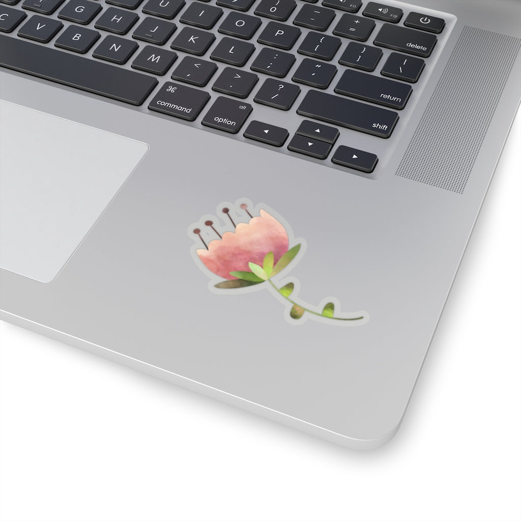 Pink Flower Stickers