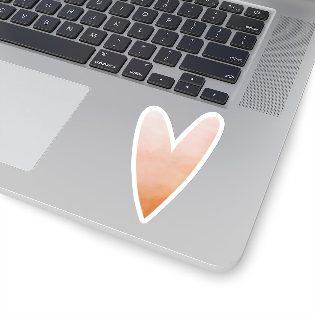 Pink Watercolor Heart Sticker