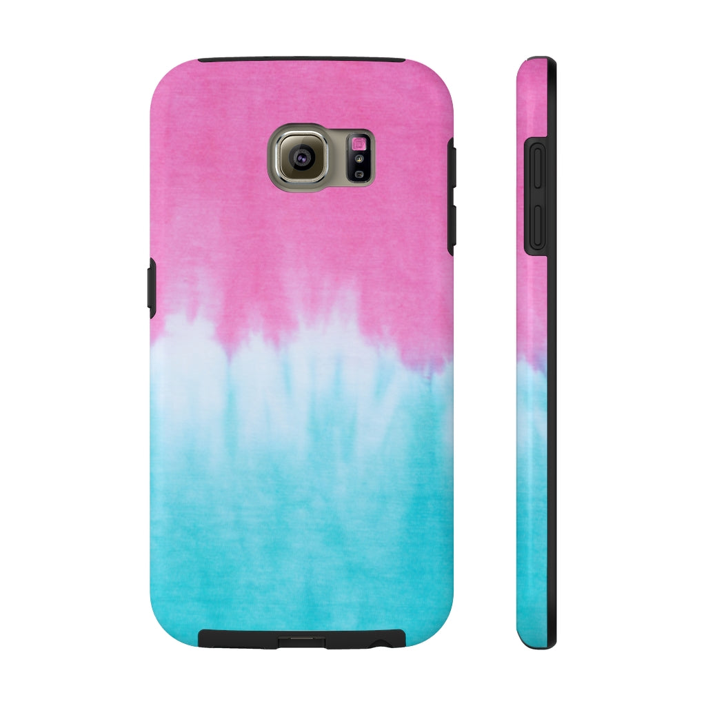 Pink and Blue Tie Dye Phone Case