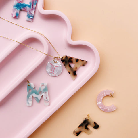 Letter Charms A-Z