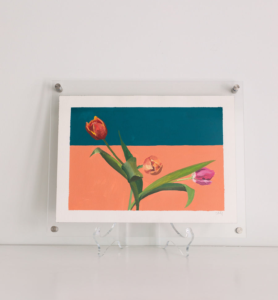 Caroline Gray Framed Work On Paper Tulips #6