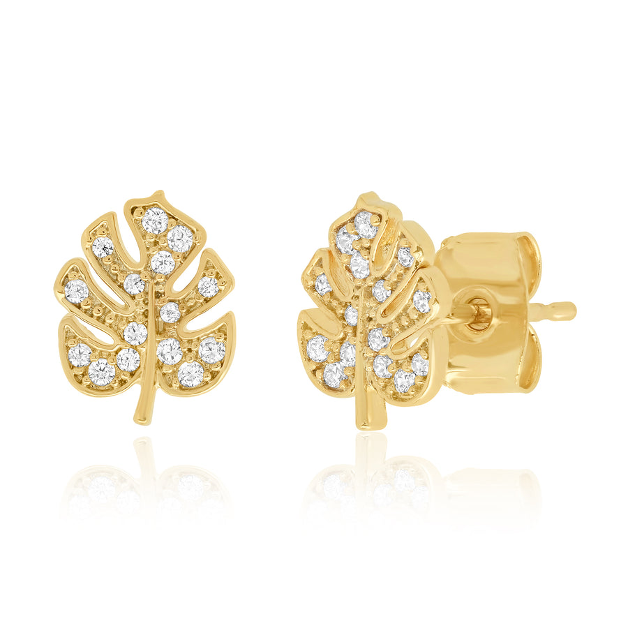 Gold Leaf Stud Earring