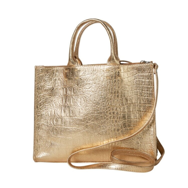 The Adelaide Tote - Crocodile Leather