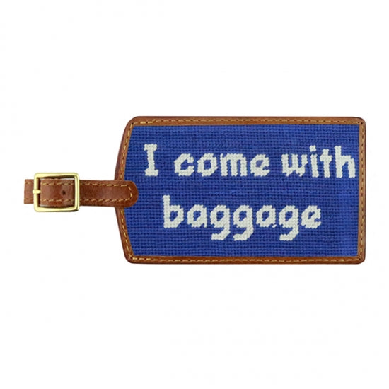 Smathers & Branson Baggage Needlepoint Luggage Tag