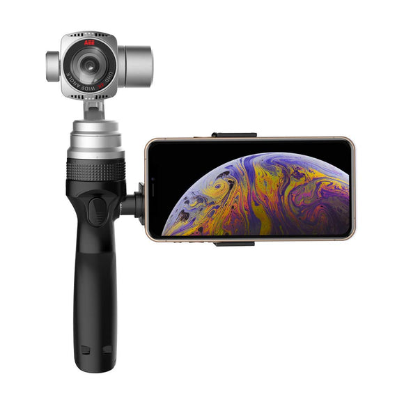 AEE Slate Elite+ Camera Gimbal Stabilizer for Smartphone, Handheld 3 Axis Gimbal, with Integrated Camera Support 4K/1080p Shooting Videos and Snap 16Mp Photos Sturdy Holder - Graphene Theory