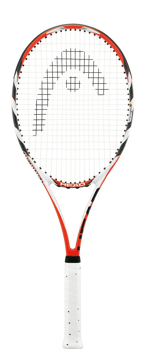HEAD MicroGel Radical MP Tennis Racquet, Strung, 4 3/8 Inch Grip - Graphene Theory