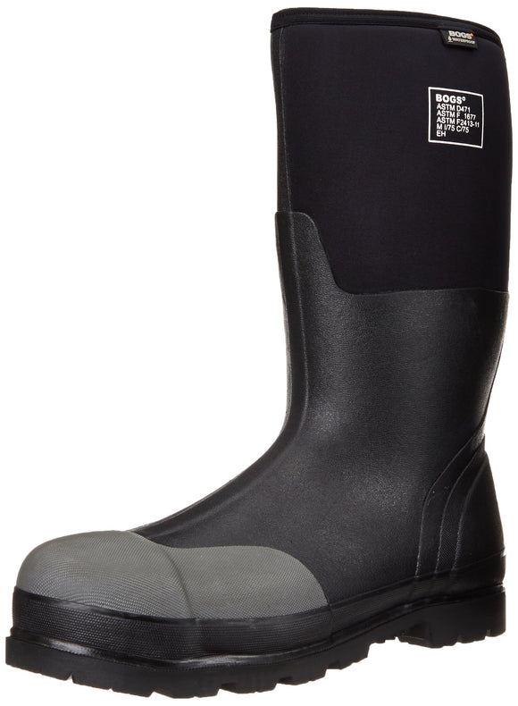 Bogs Men's Forge Tall Industrial Steel Toe Work Rain Boot, Black, 12 D(M) US - Graphene Theory