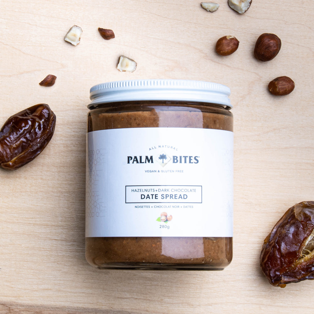 Load image into Gallery viewer, Hazelnut Palm Bites Date Spread - Palm Bites®