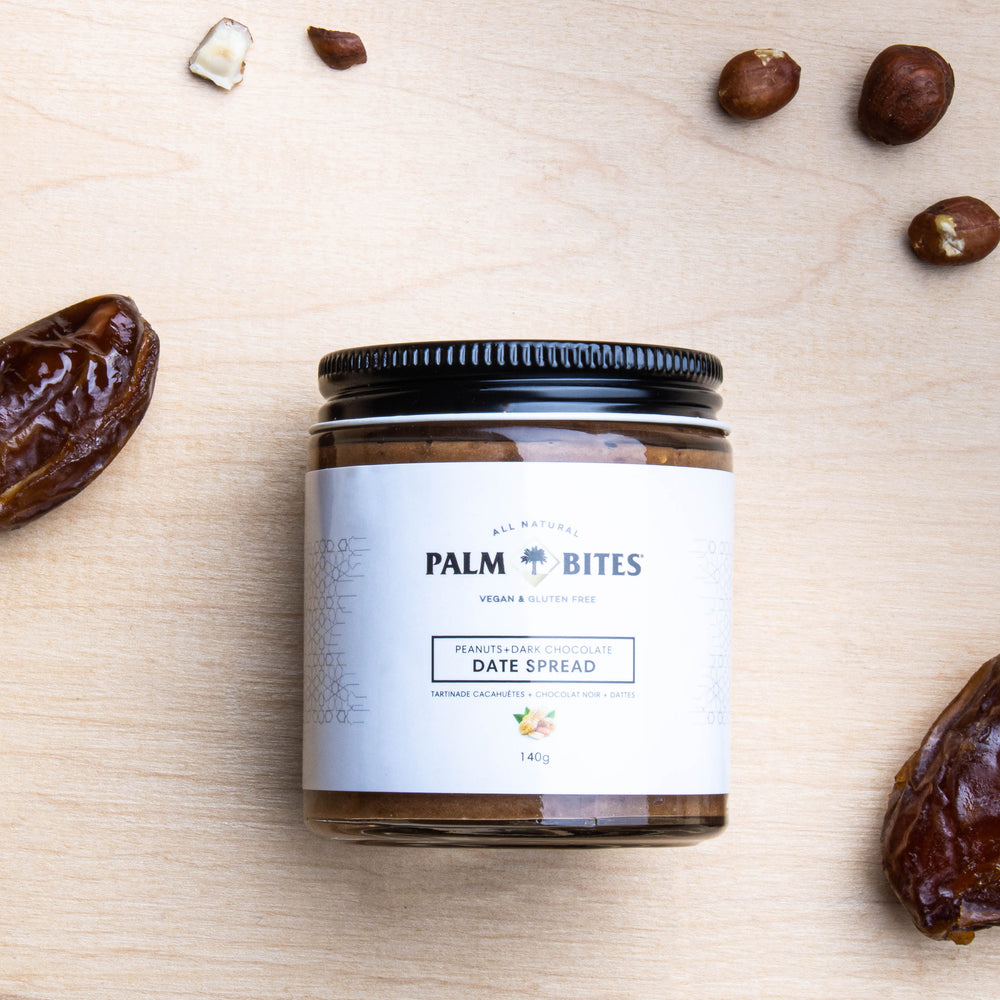 Load image into Gallery viewer, Peanut Palm Bites Date Spread - Palm Bites®