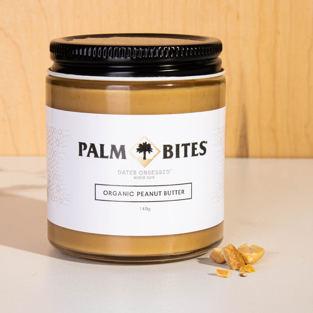 Load image into Gallery viewer, Palm Bites Organic Peanut Butter Jar - Palm Bites®