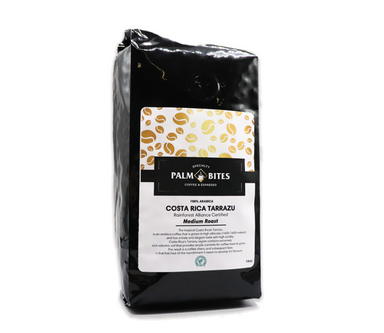 Costa Rican Tarrazu 1lb Medium Roast - Rainforest Alliance Coffee - Palm Bites®