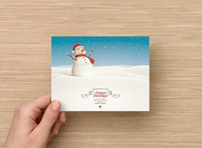 Happy Holidays Card - Palm Bites®