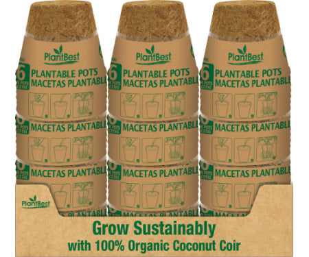 Coir Pot - 4-inches - 6pk