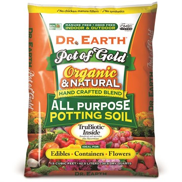 Dr. Earth® - Pot of Gold® Organic All Purpose Potting Soil - 1.5cuft