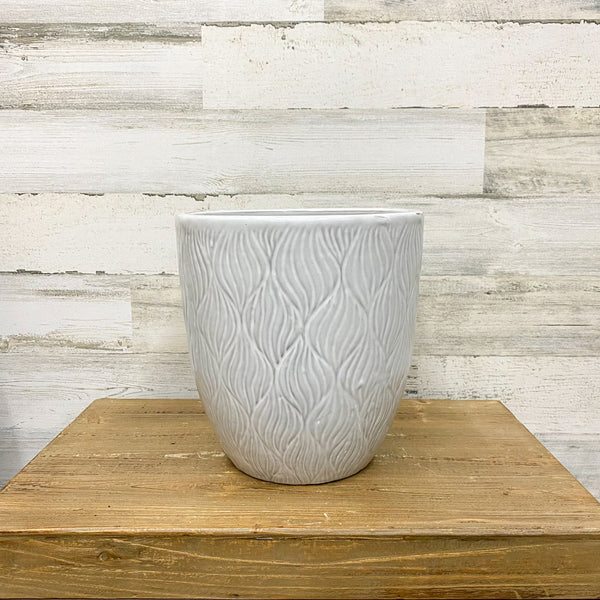 Dune Wave Planter - White - 10-inches