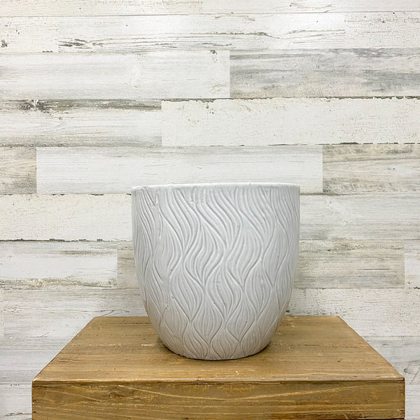 Dune Wave Planter - White - 11-inches