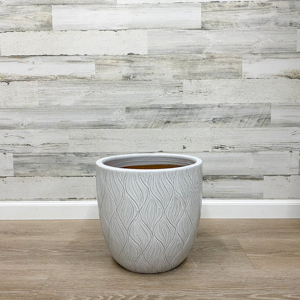 Dune Wave Planter - White - 14-inches
