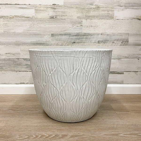 Dune Wave Planter - White - 19-inches