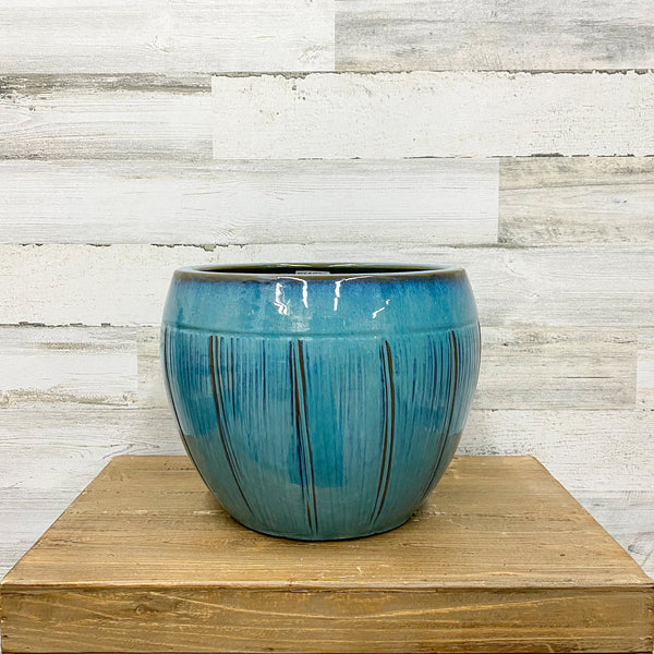 Halona Planter - Blue/Green - 12-inches