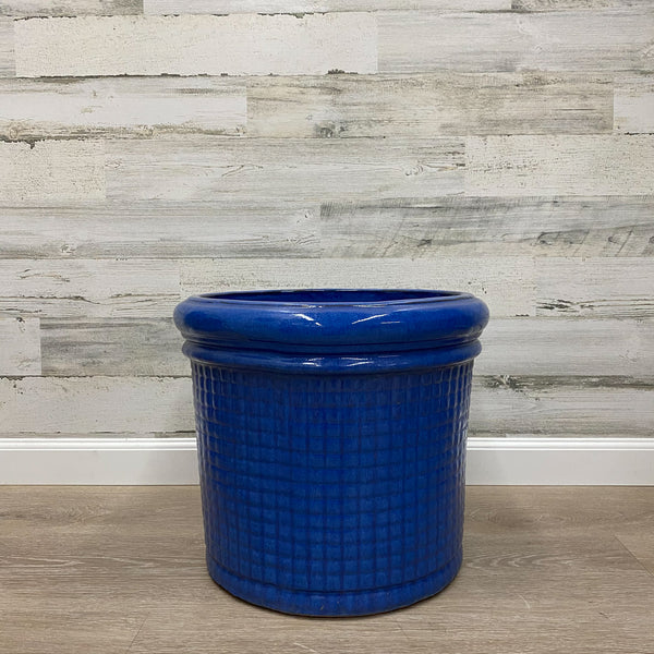 Punchcard Planter - Blue - 16-inches