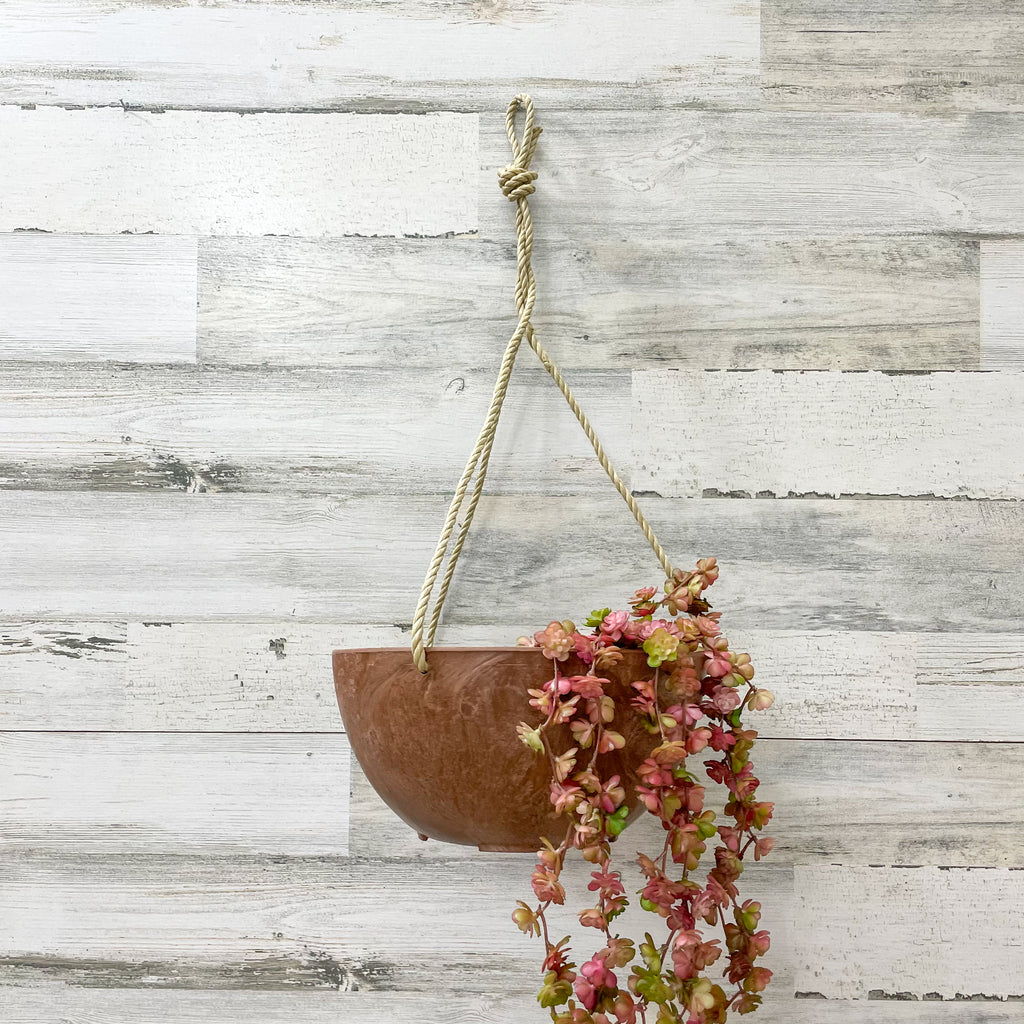 Hanging Bowl - Rust - 10-inches