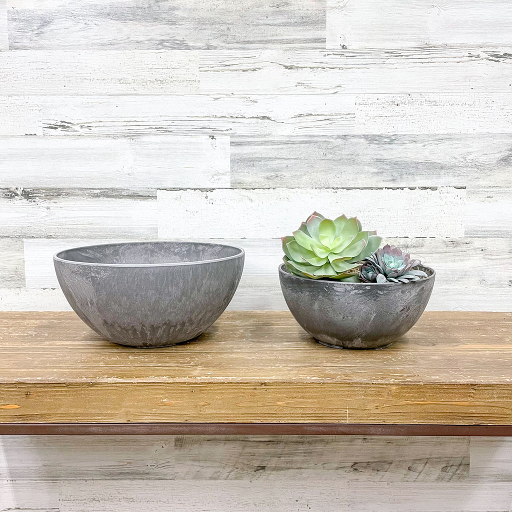 Bowl Planter Grey - 10-inches