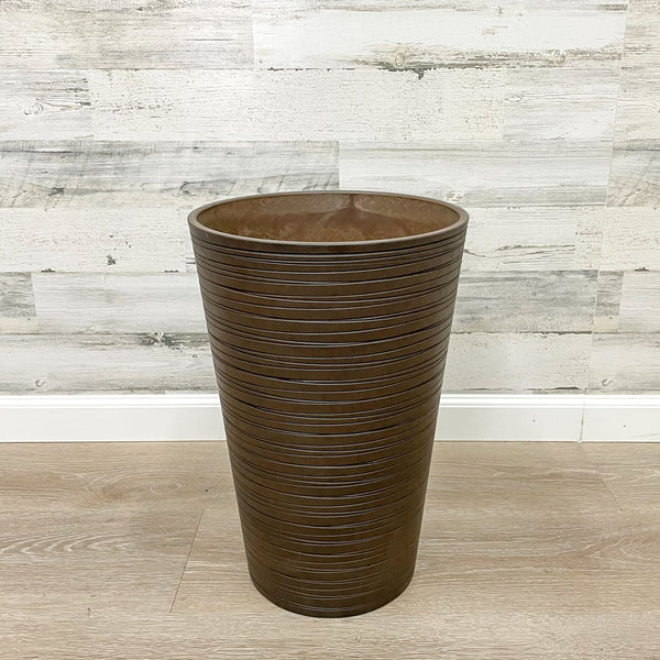Tall Round Planter Chocolate - 12-inches