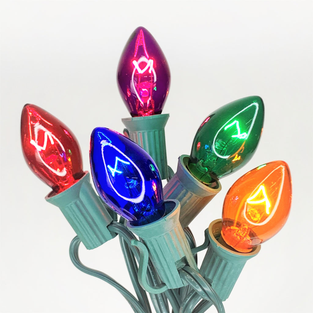 C7 25 ct. String Lights Transparent Multi-Colored