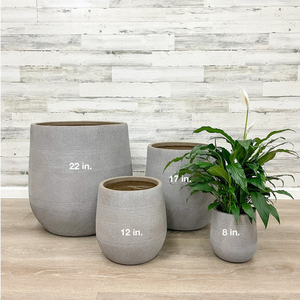 Fiberclay Tall Belly Planter - Taupe - 8-inches