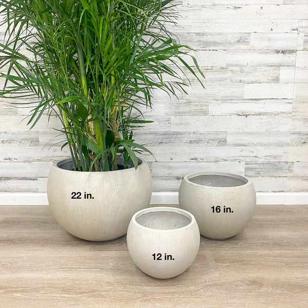 Fiberclay Orb Planter - Beige - 22-inches