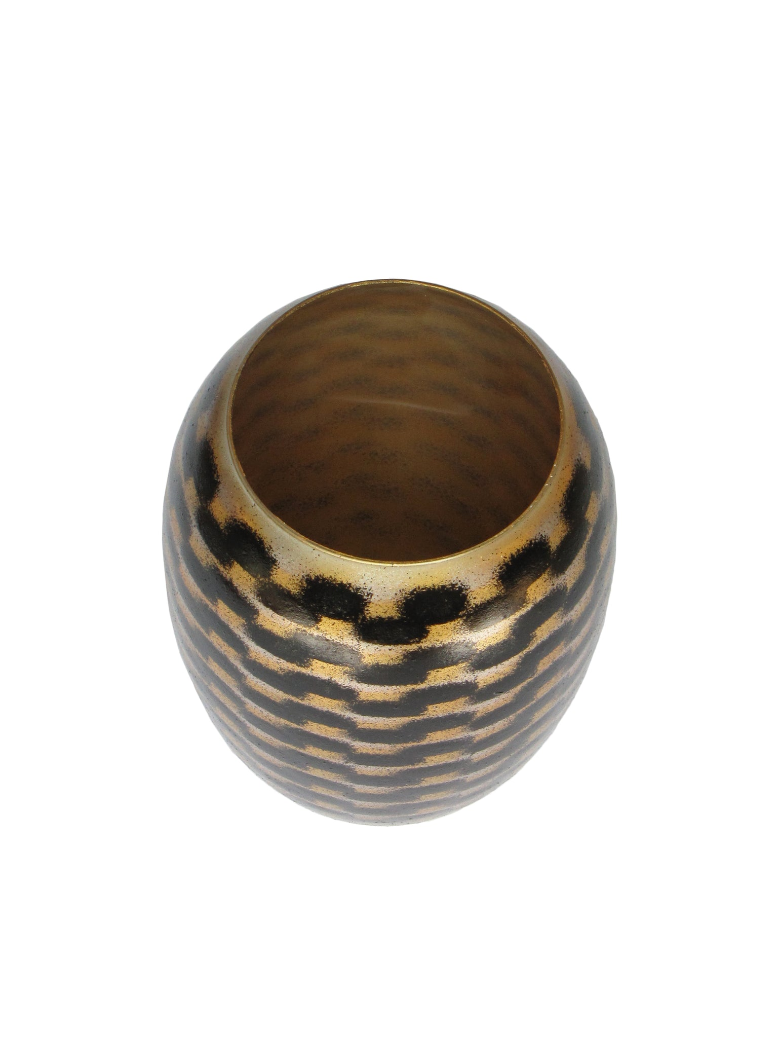 Gold Shadow River Barrel Vase MED
