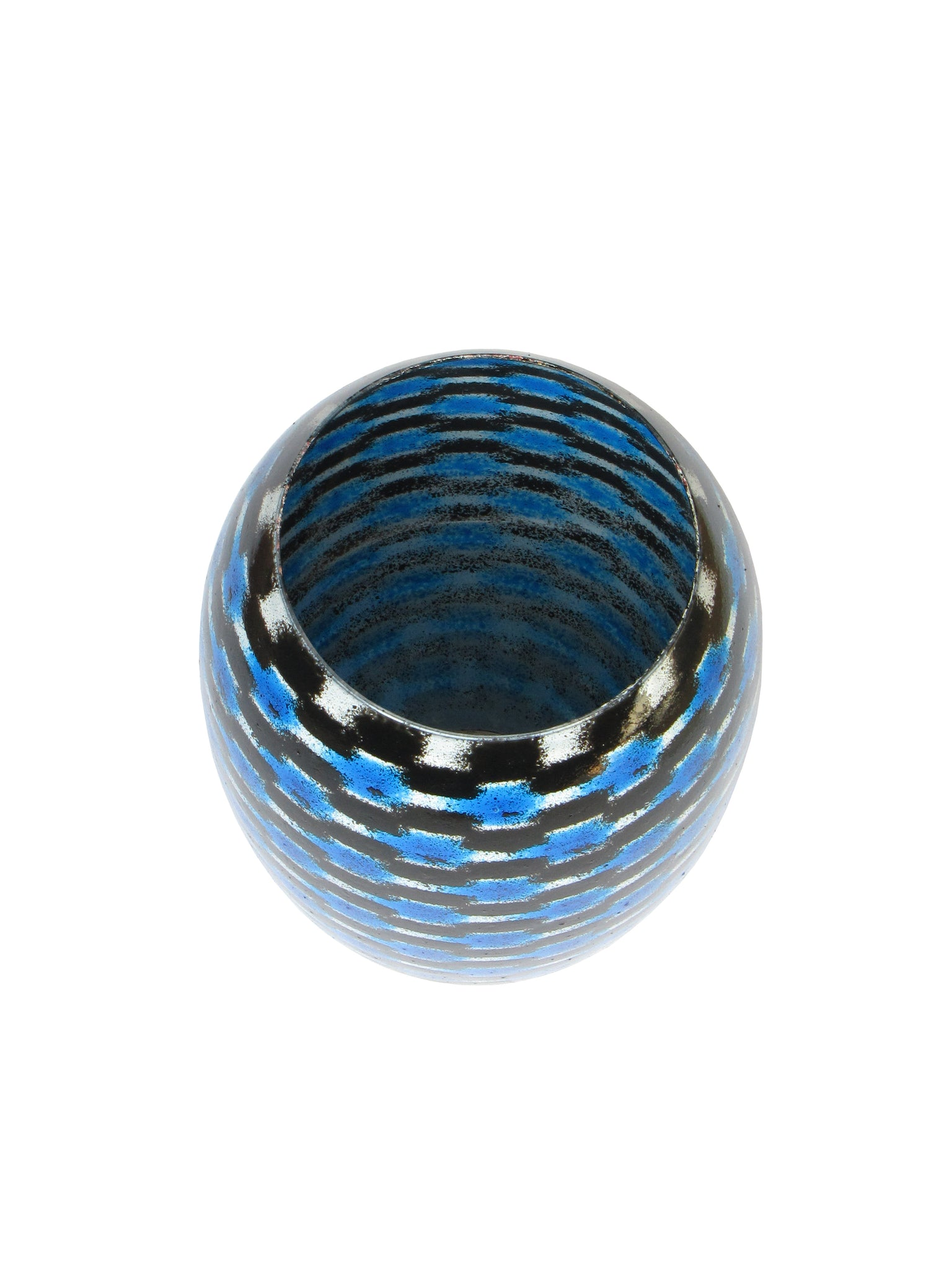 Blue Teleport Barrel Vase Medium