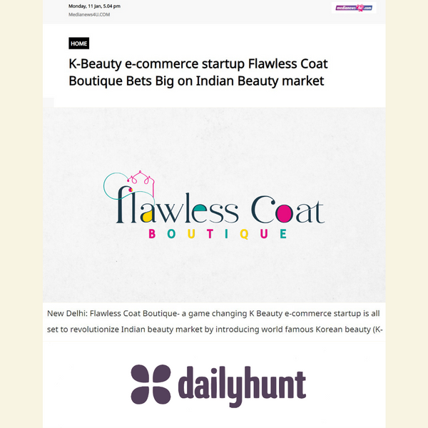 Flawlesscoatboutique featured in DailyHunt