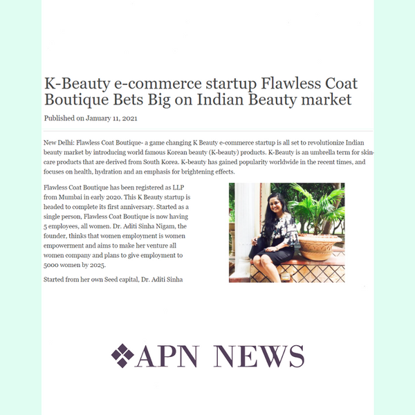 Flawlesscoatboutique featured in APN News