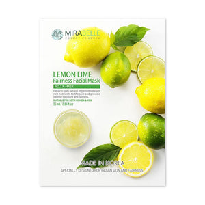 Mirabelle - Lemon Lime Fairness Facial Sheet Mask