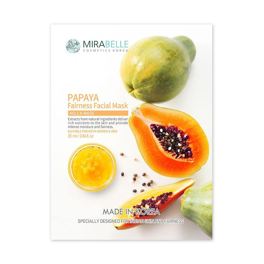 Mirabelle - Papaya Fairness Facial Sheet Mask