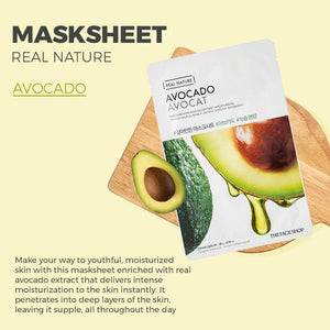 Nature Republic - Real Nature Sheet Mask Avocado